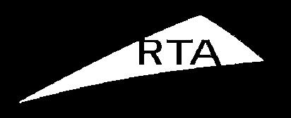 white logo of social impact organization RTA