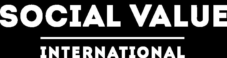 logo of impact organisation social value international in white