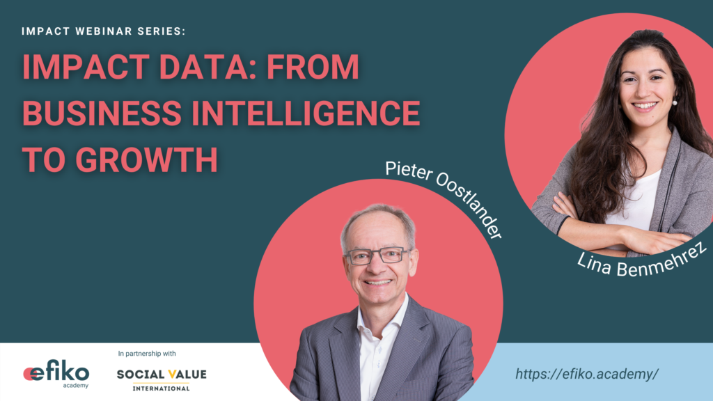 Efiko impact data webinar from business intelligence to growth with pieter oostlander and lina benmehrez
